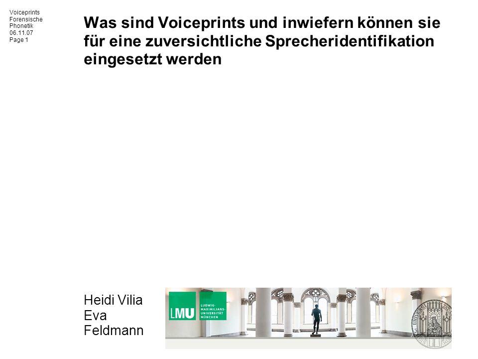 Was sind Voiceprints und inwiefern können sie für eine zuversichtliche Sprecheridentifikation eingesetzt werden