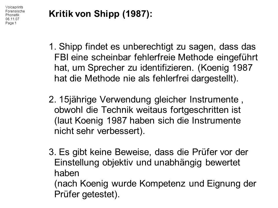 Kritik von Shipp (1987):