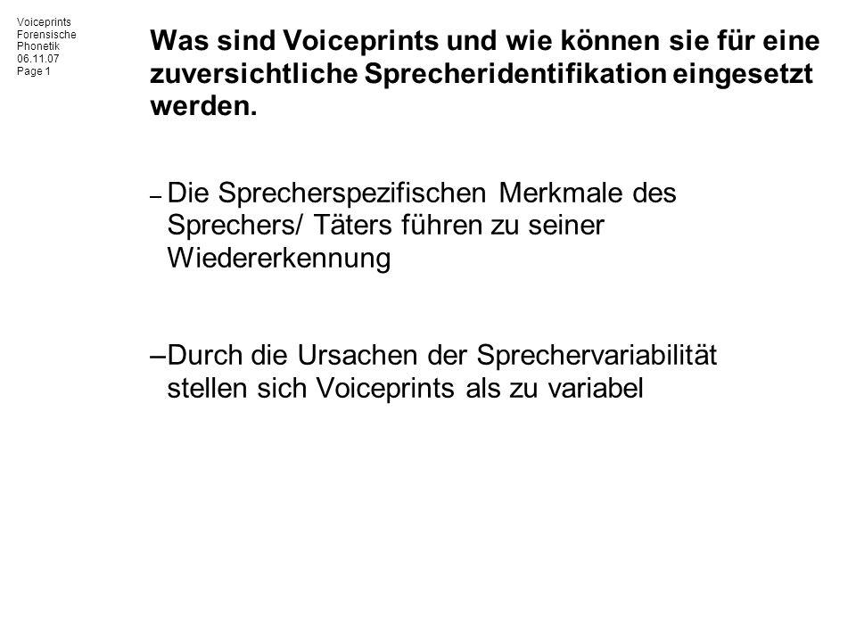 Was sind Voiceprints und wie können sie für eine zuversichtliche Sprecheridentifikation eingesetzt werden.
