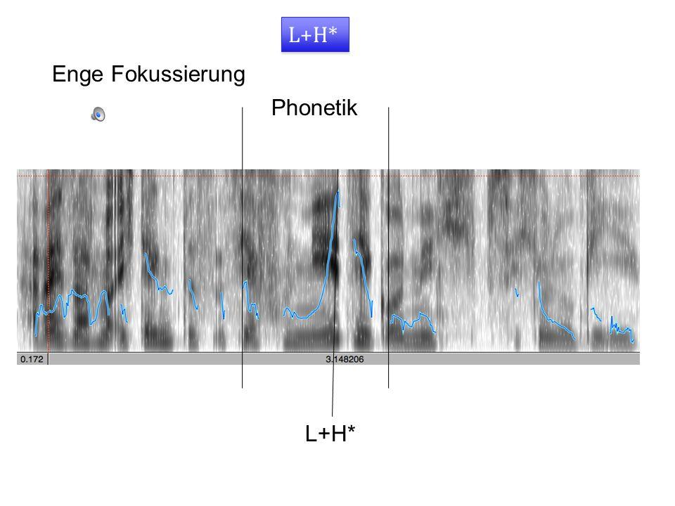 L+H* Enge Fokussierung Phonetik L+H*