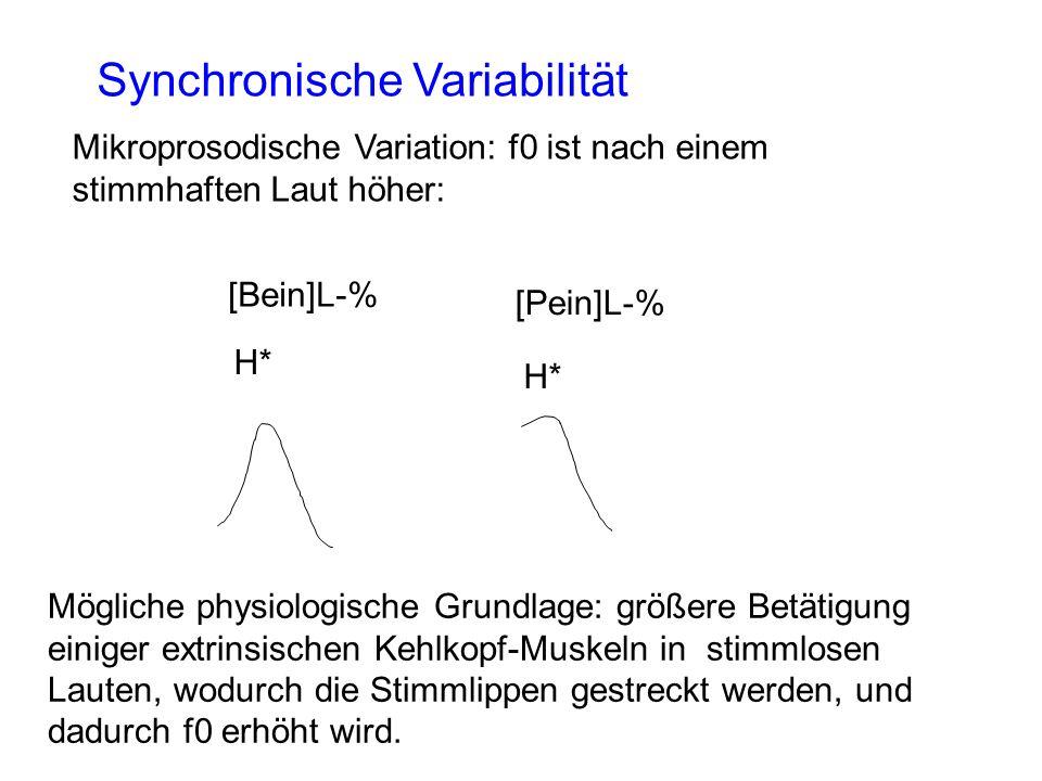 Synchronische Variabilität
