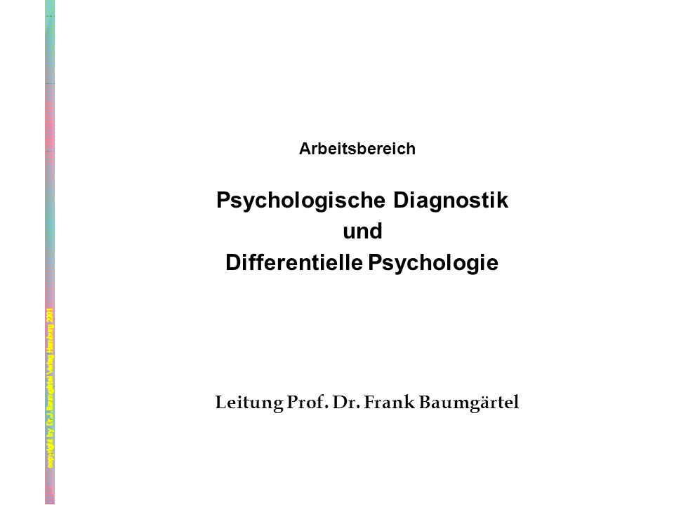 Psychologische Diagnostik Differentielle Psychologie