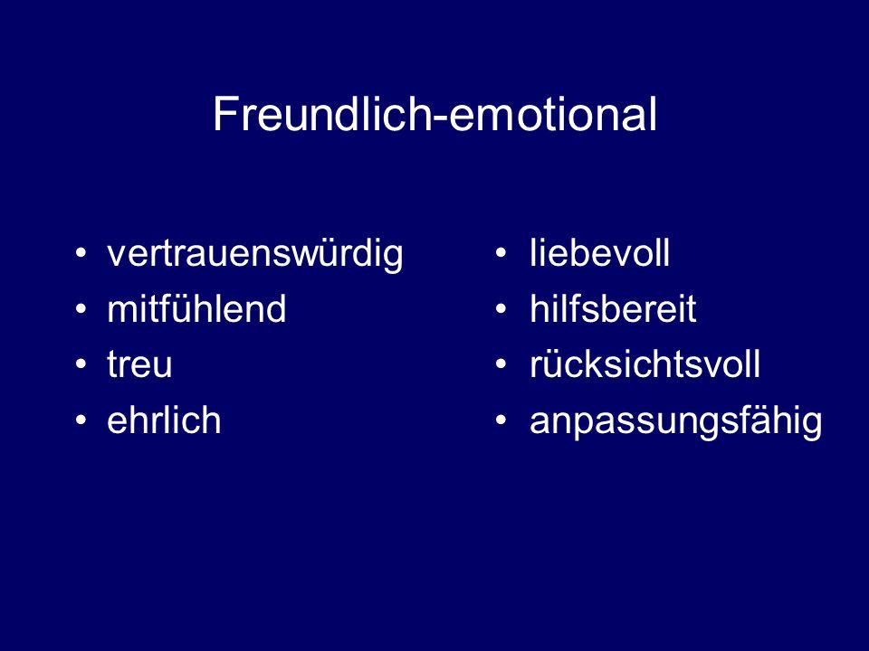 Freundlich-emotional