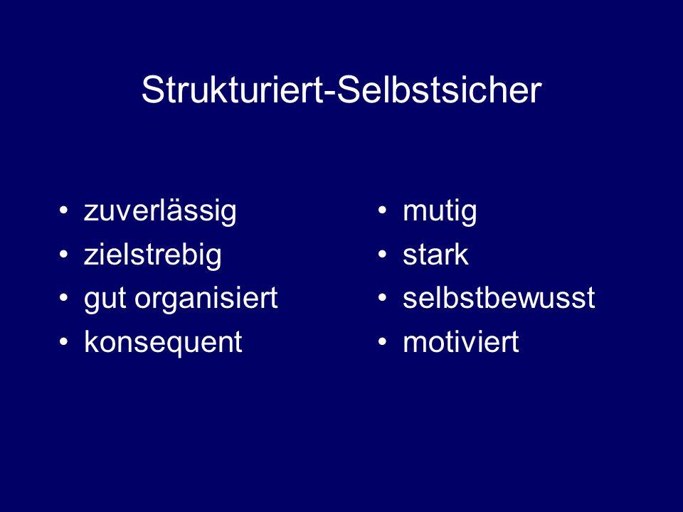 Strukturiert-Selbstsicher