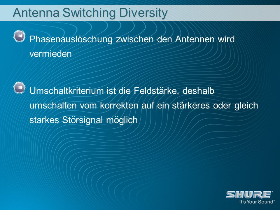 Antenna Switching Diversity
