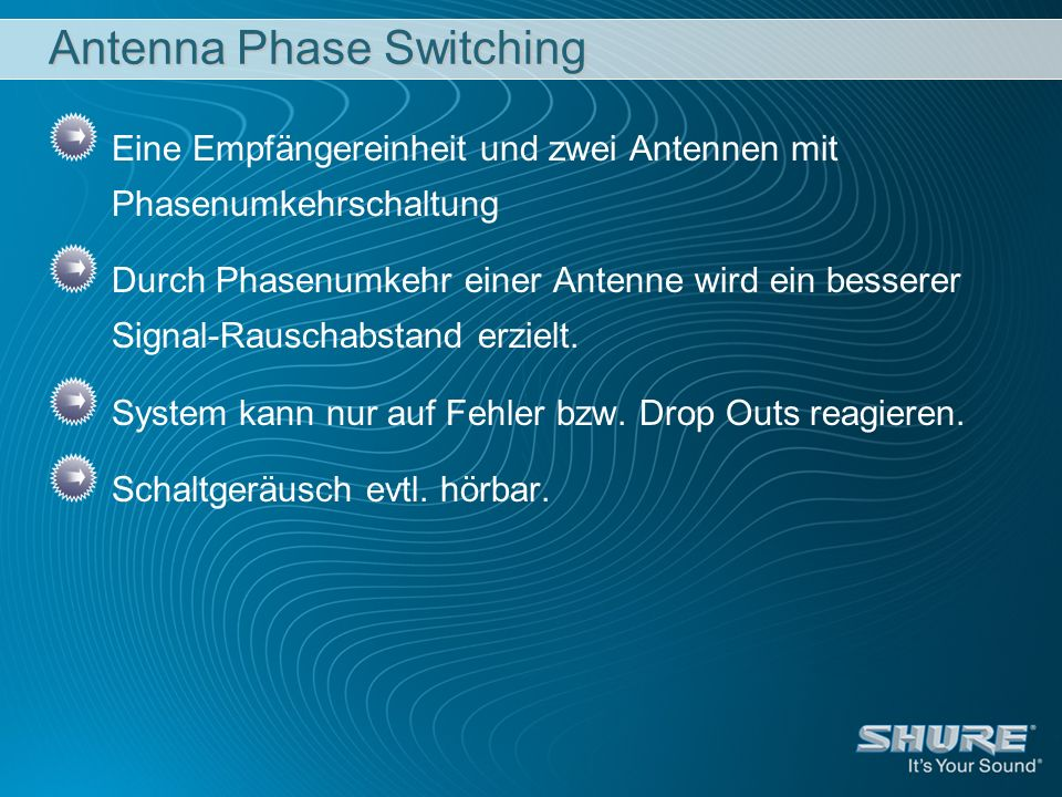 Antenna Phase Switching
