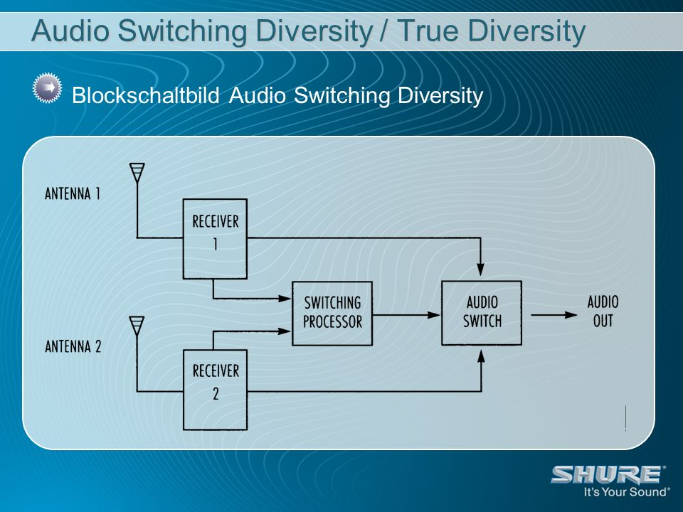 Audio Switching Diversity / True Diversity