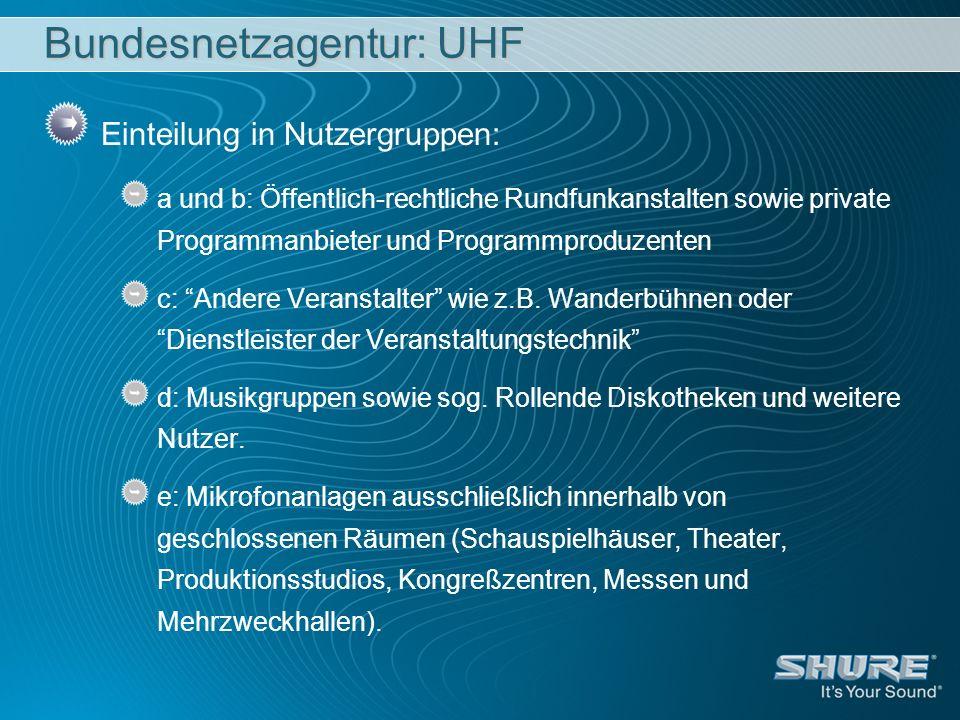 Bundesnetzagentur: UHF