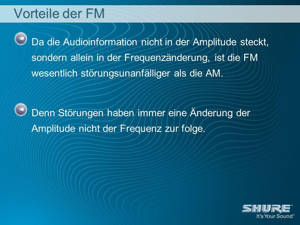 Vorteile der FM