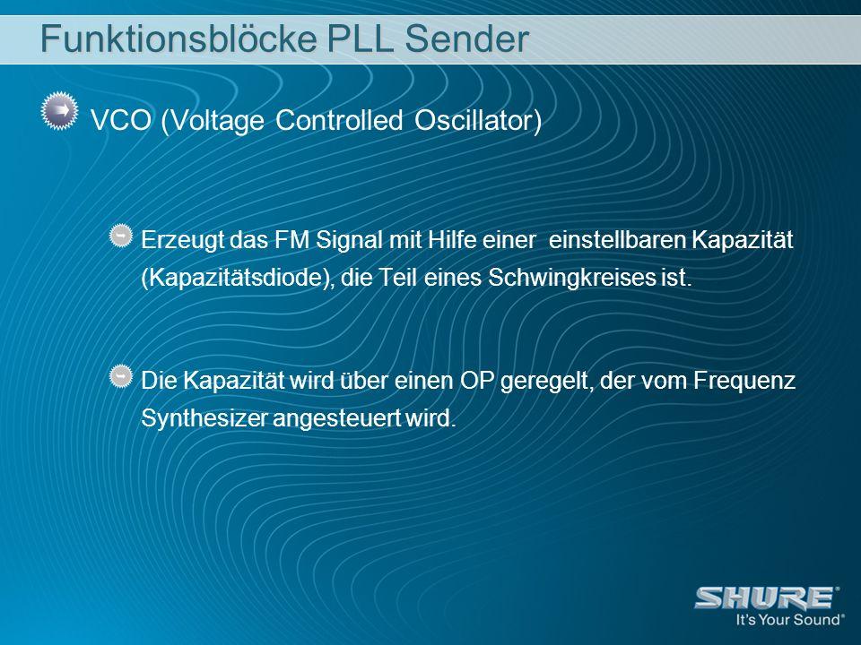 Funktionsblöcke PLL Sender
