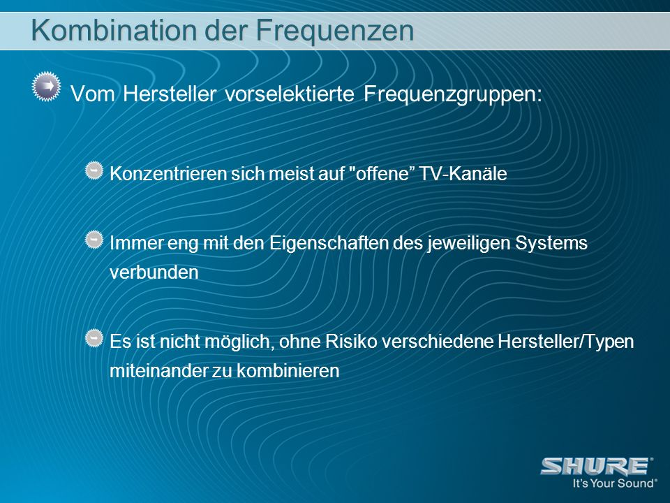 Kombination der Frequenzen