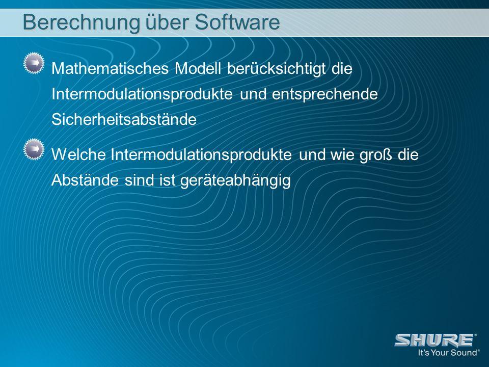 Berechnung über Software