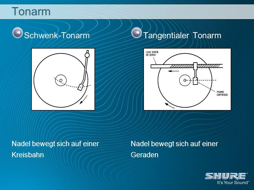 Tonarm Schwenk-Tonarm Tangentialer Tonarm