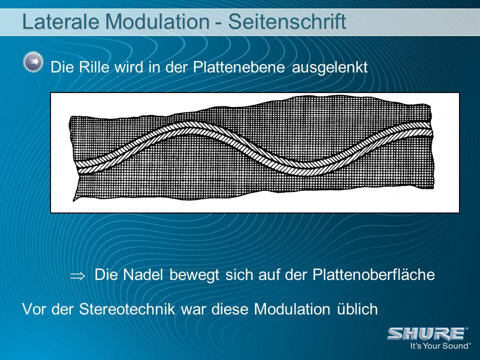 Laterale Modulation - Seitenschrift