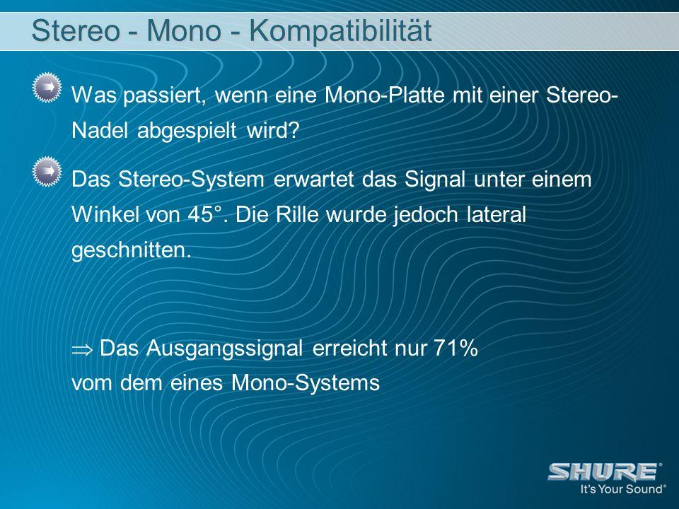 Stereo - Mono - Kompatibilität