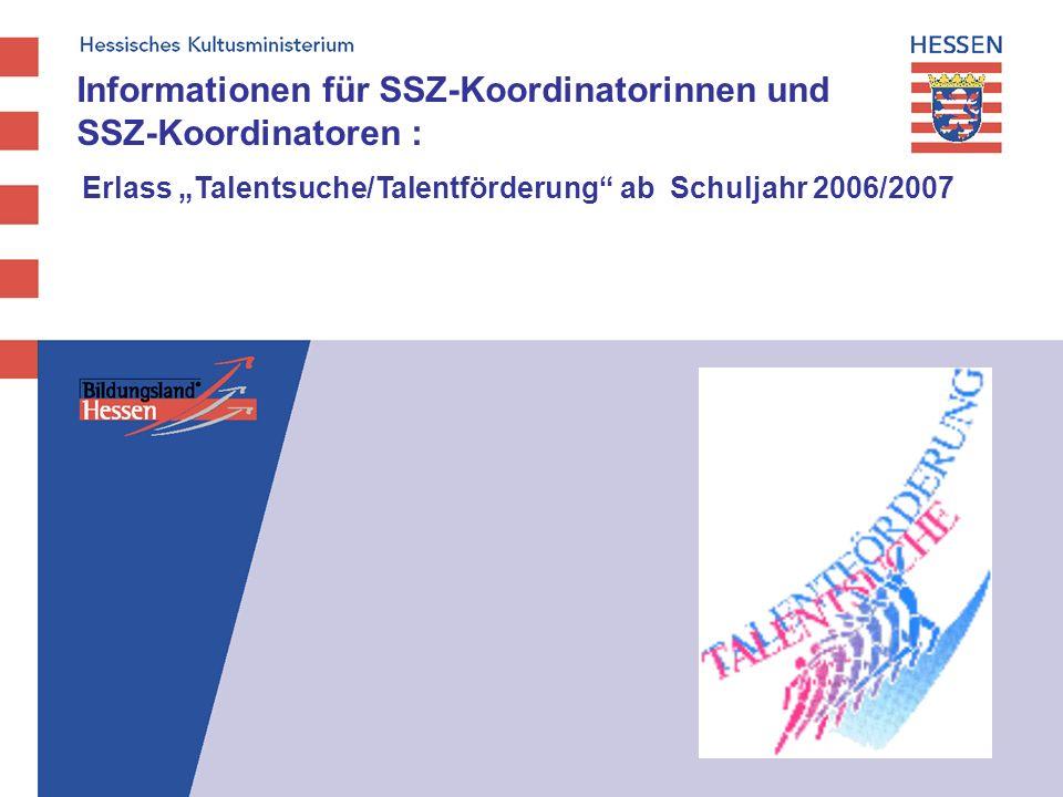 Informationen für SSZ-Koordinatorinnen und SSZ-Koordinatoren :