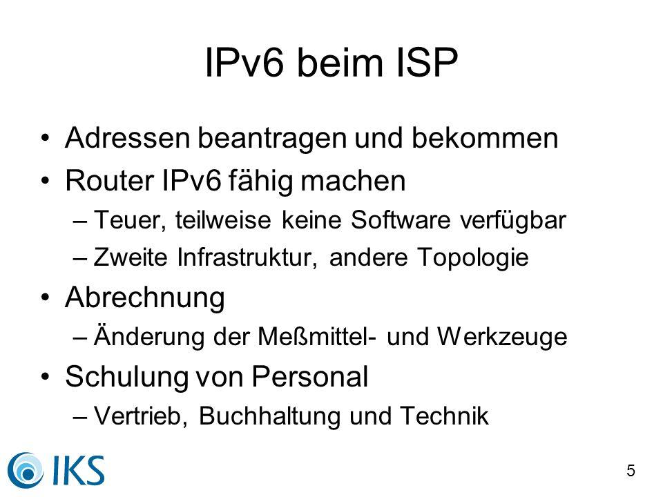 IPv6 beim ISP Adressen beantragen und bekommen