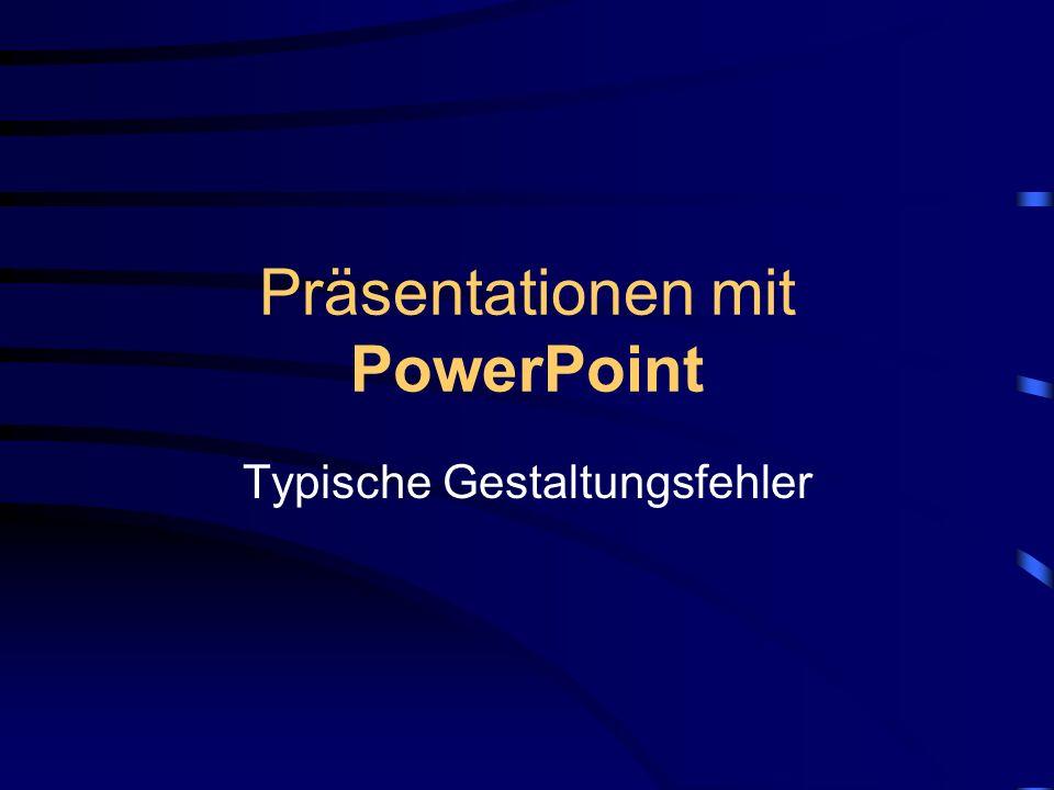 Präsentationen mit PowerPoint
