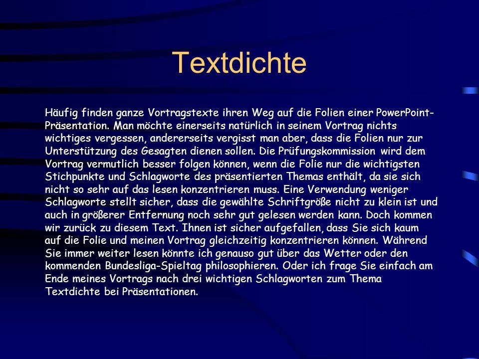 Textdichte
