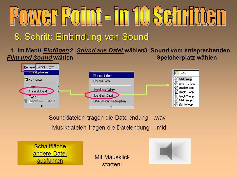 3. Sound vom entsprechenden