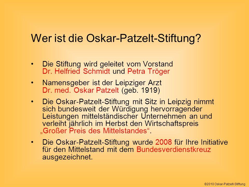 Wer ist die Oskar-Patzelt-Stiftung