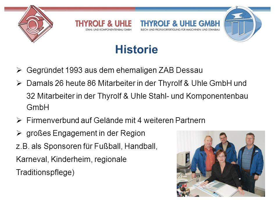 Historie Gegründet 1993 aus dem ehemaligen ZAB Dessau