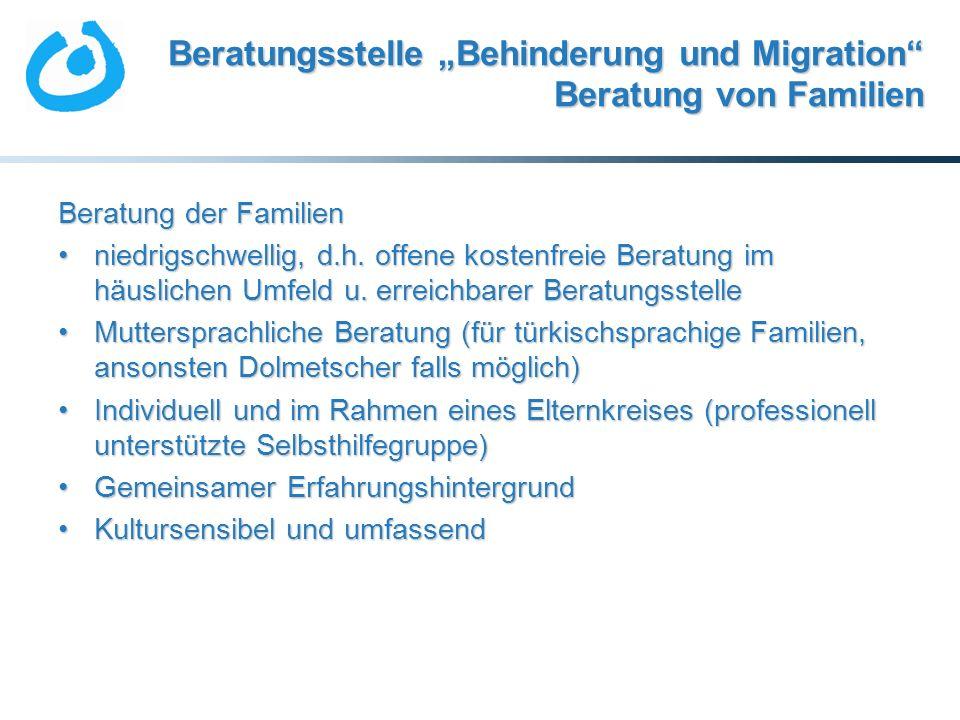 """Beratungsstelle """"Behinderung und Migration Beratung von Familien"""