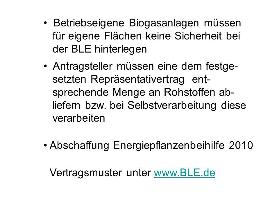 Betriebseigene Biogasanlagen müssen
