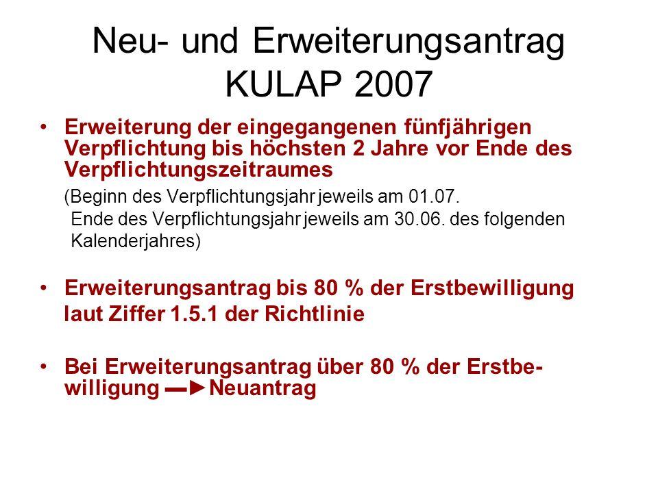 Neu- und Erweiterungsantrag KULAP 2007