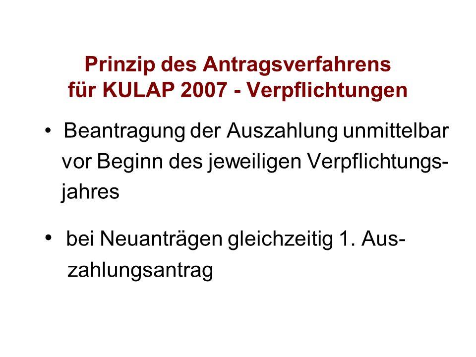 Prinzip des Antragsverfahrens für KULAP 2007 - Verpflichtungen
