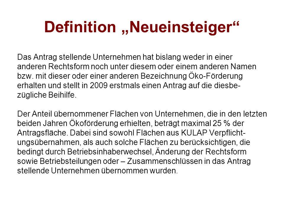 """Definition """"Neueinsteiger"""