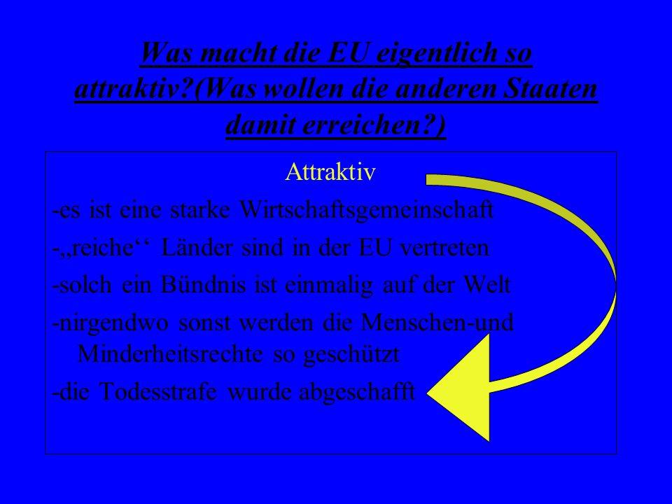 Was macht die EU eigentlich so attraktiv