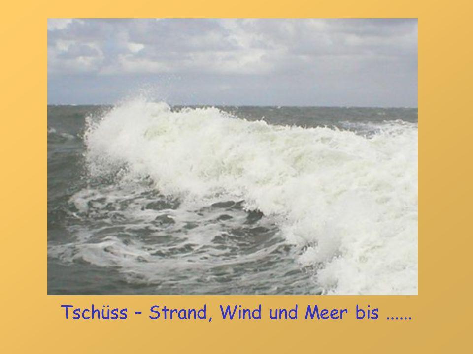 Tschüss – Strand, Wind und Meer bis ......