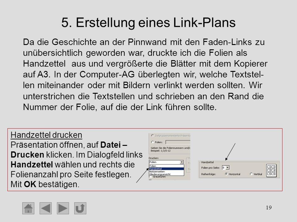 5. Erstellung eines Link-Plans