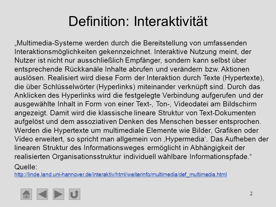 Definition: Interaktivität