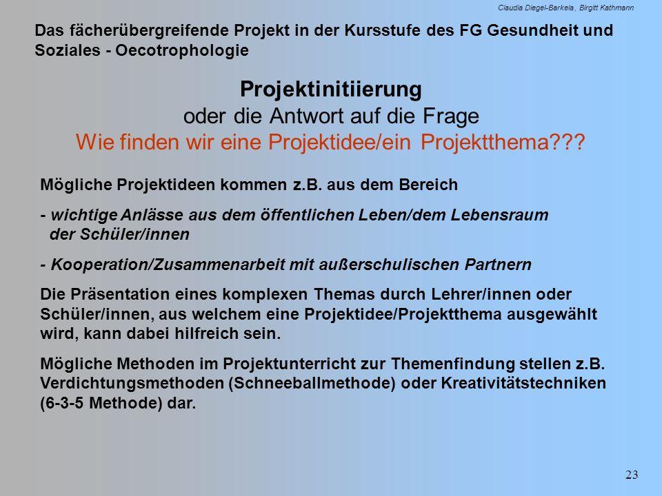 Projektinitiierung oder die Antwort auf die Frage Wie finden wir eine Projektidee/ein Projektthema