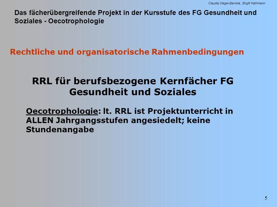 RRL für berufsbezogene Kernfächer FG Gesundheit und Soziales