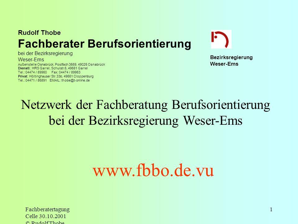 www.fbbo.de.vu Netzwerk der Fachberatung Berufsorientierung