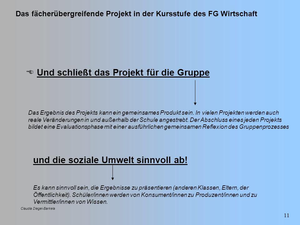  Und schließt das Projekt für die Gruppe