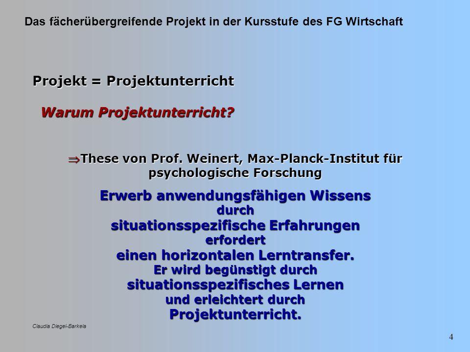 Projekt = Projektunterricht