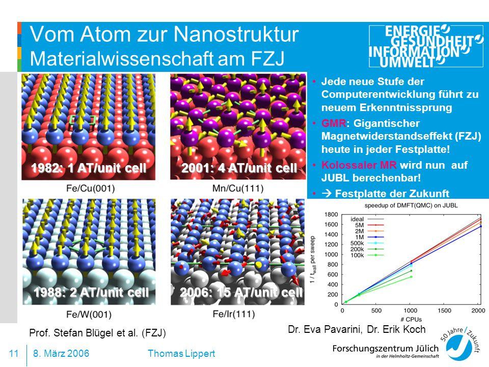 Vom Atom zur Nanostruktur Materialwissenschaft am FZJ