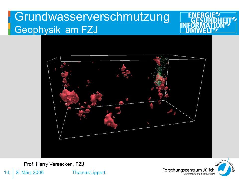 Grundwasserverschmutzung Geophysik am FZJ