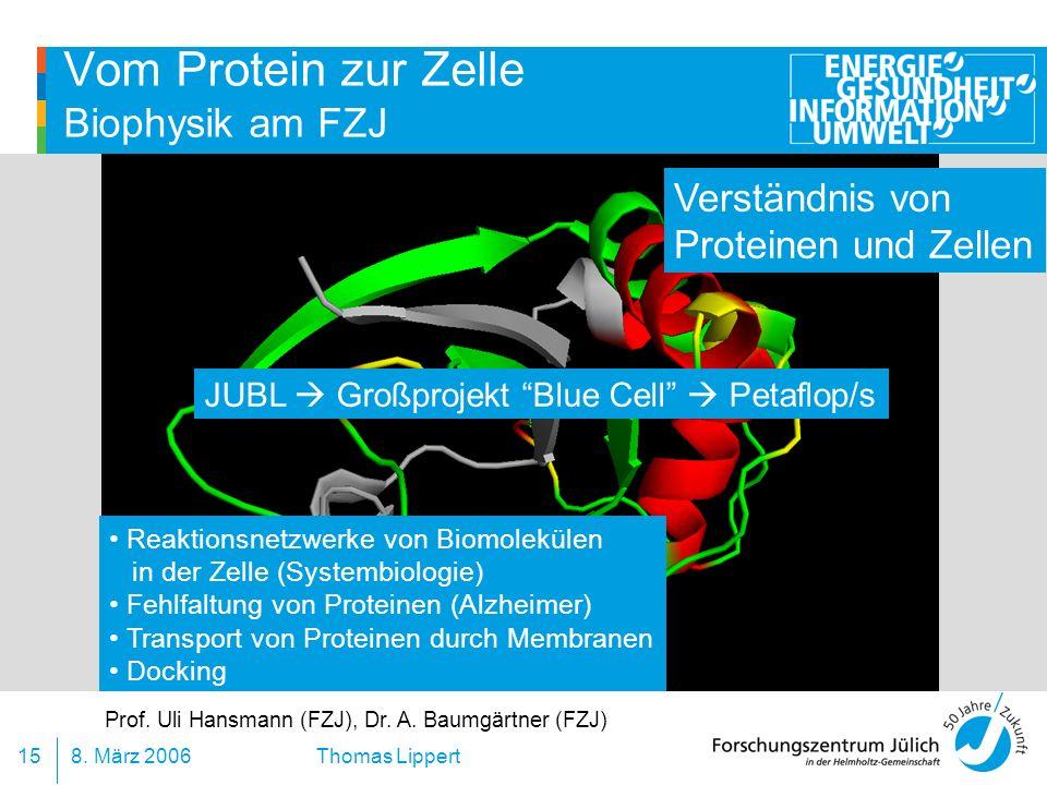 Vom Protein zur Zelle Biophysik am FZJ