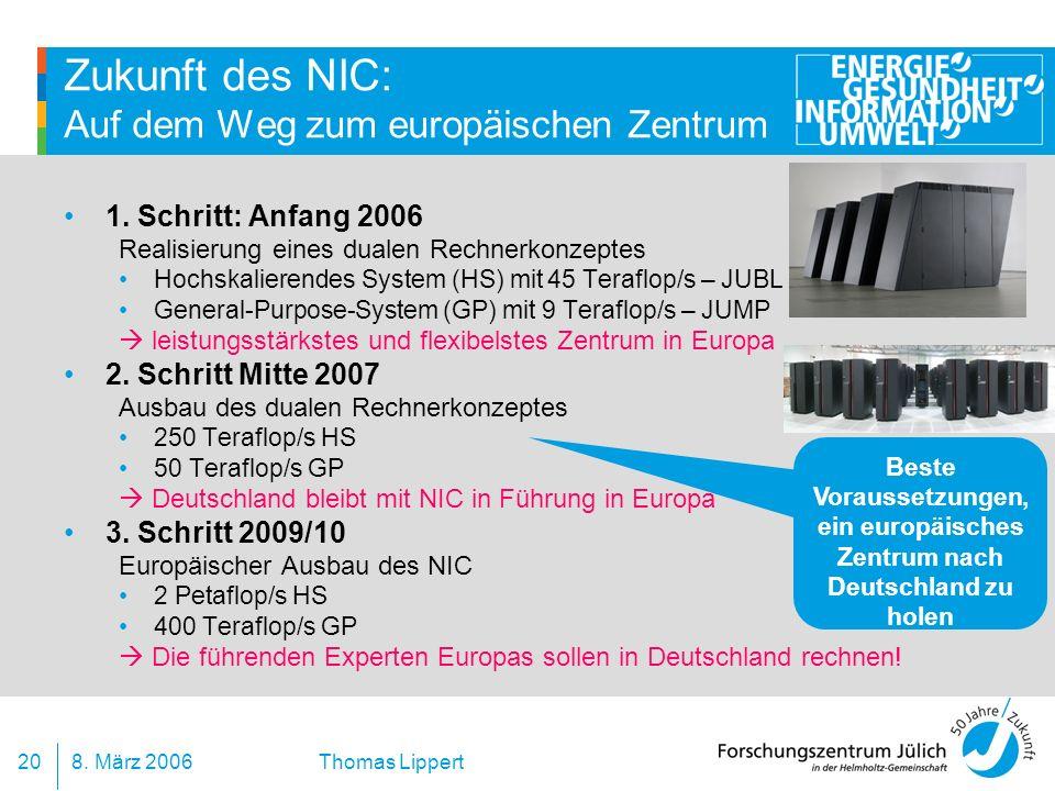 Zukunft des NIC: Auf dem Weg zum europäischen Zentrum