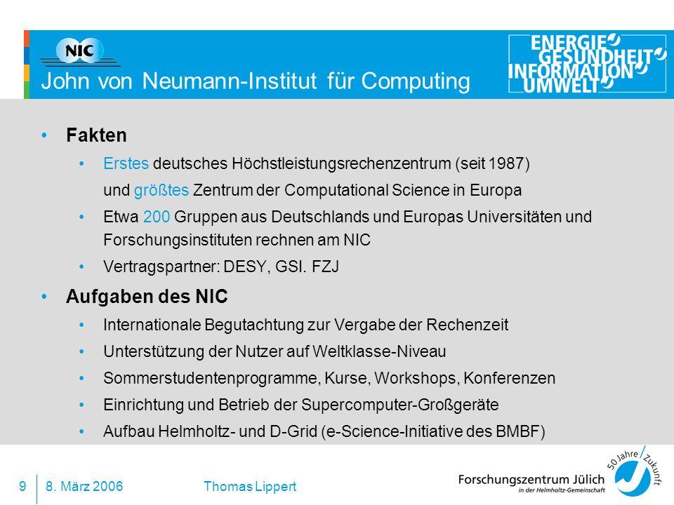 John von Neumann-Institut für Computing