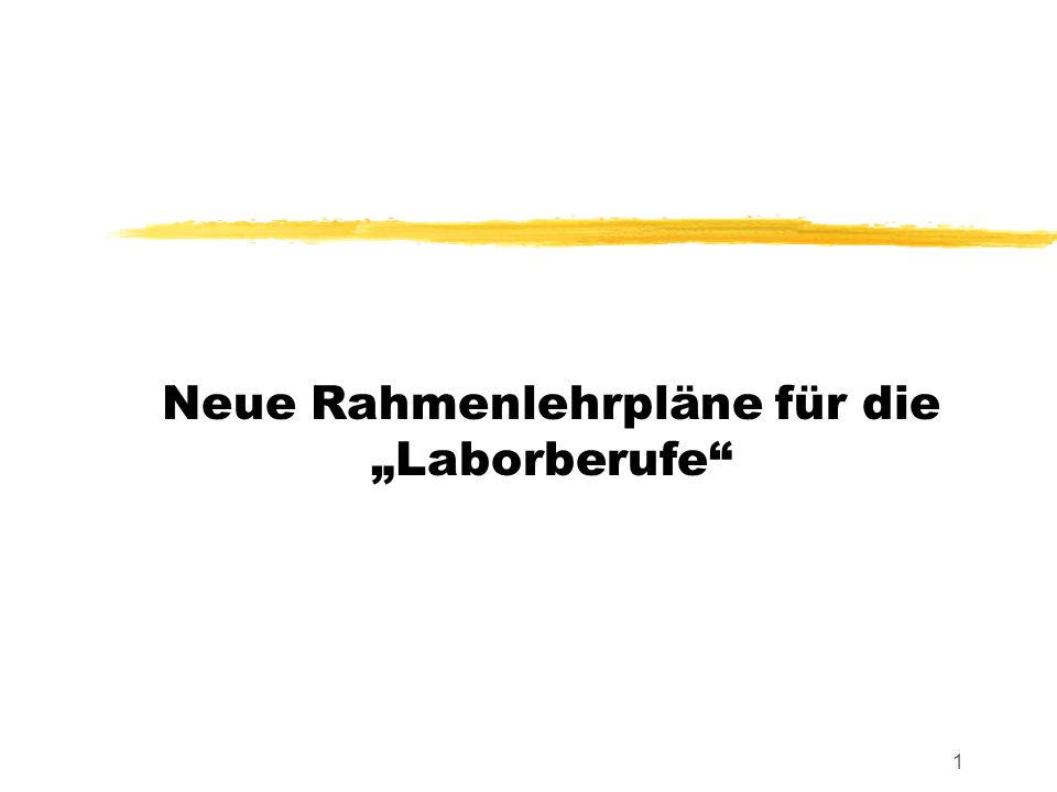"""Neue Rahmenlehrpläne für die """"Laborberufe"""