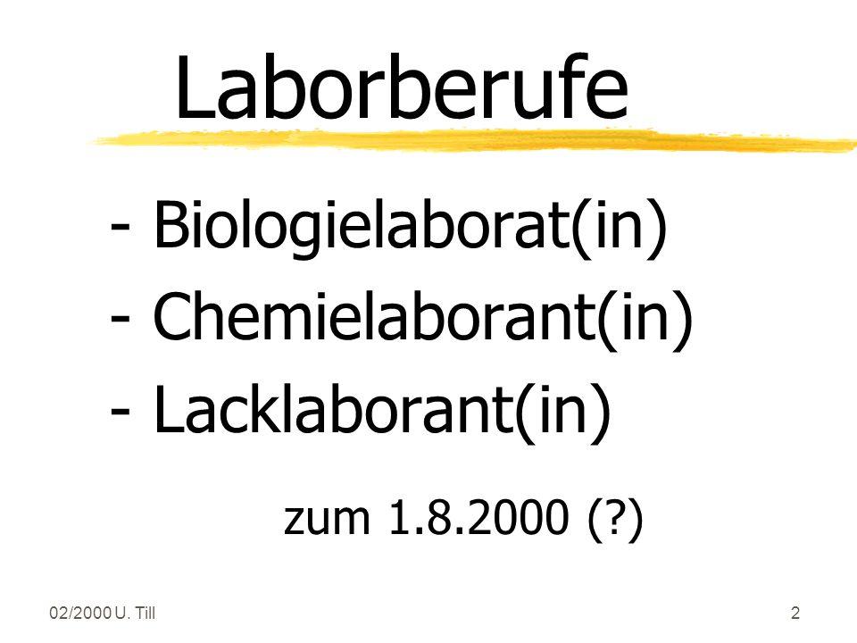 Laborberufe - Biologielaborat(in) - Chemielaborant(in)