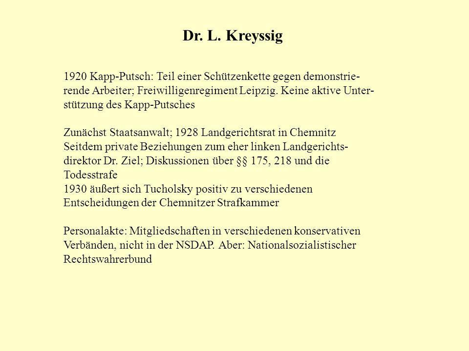 Dr. L. Kreyssig