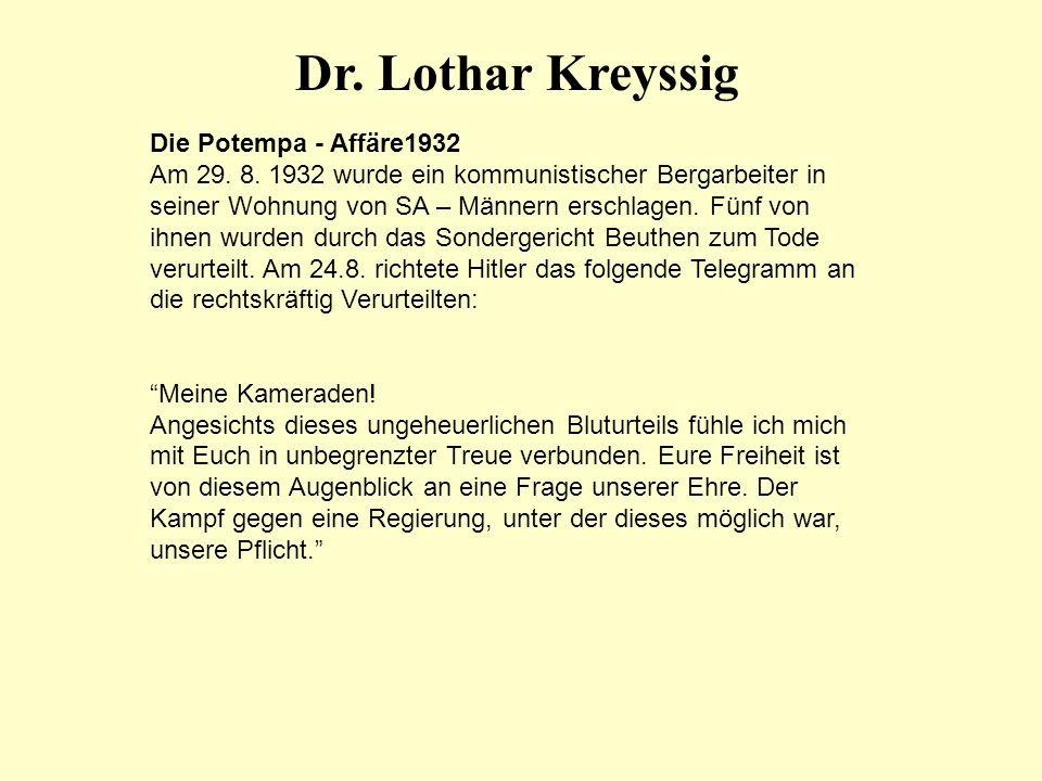 Dr. Lothar Kreyssig Die Potempa - Affäre1932
