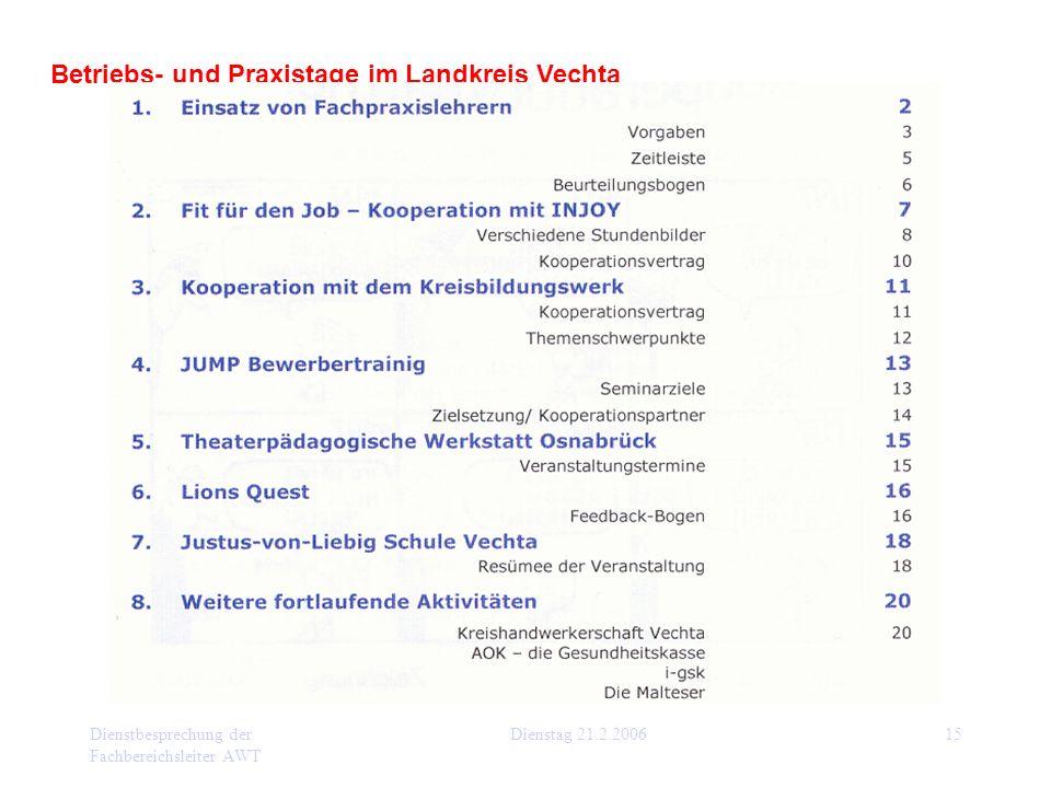 Betriebs- und Praxistage im Landkreis Vechta